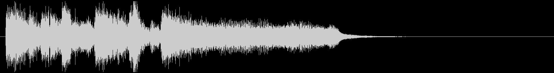 ソリッドでかっこいいジャズ系サウンドロゴの未再生の波形