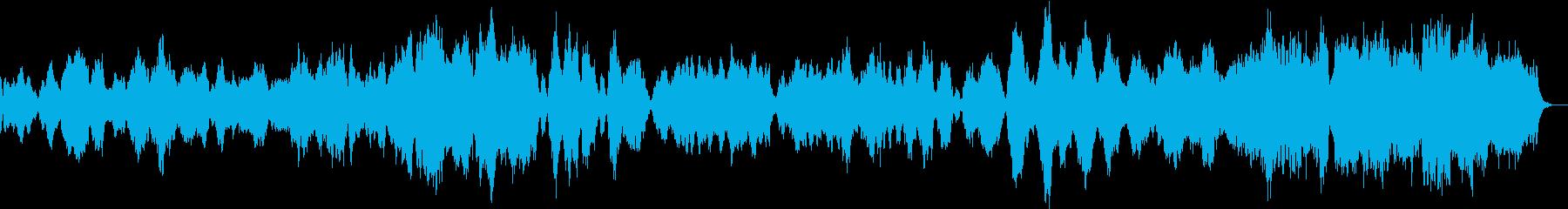 ゆったりした弦楽四重奏の再生済みの波形