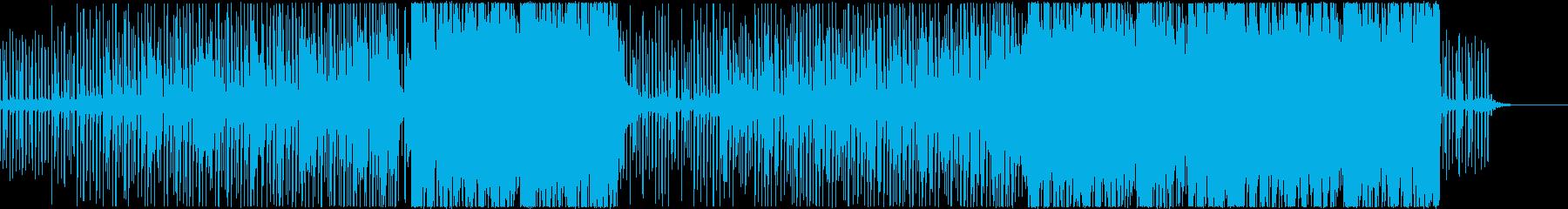 Future Bassぽいインスト曲の再生済みの波形