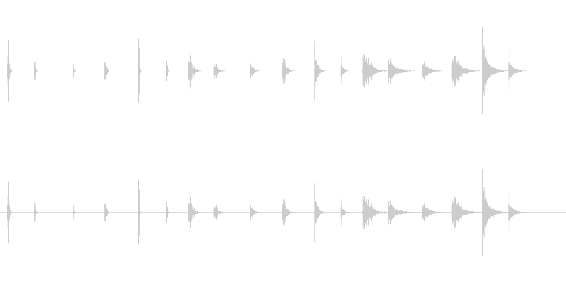 PEEPS&BEEPS-6バージョ...の未再生の波形