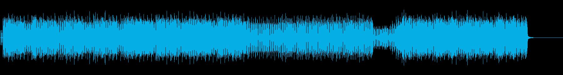 キラキラとのびやかな四つ打ちポップの再生済みの波形