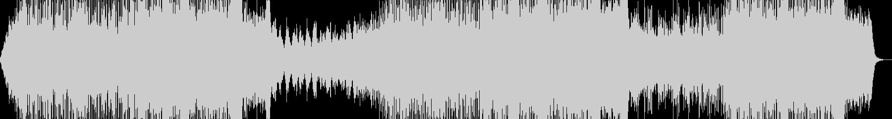 80年代洋楽ポップス風の曲の未再生の波形