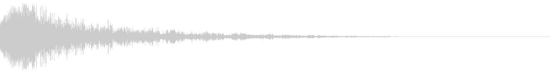 ドーン-54-1(インパクト音)の未再生の波形