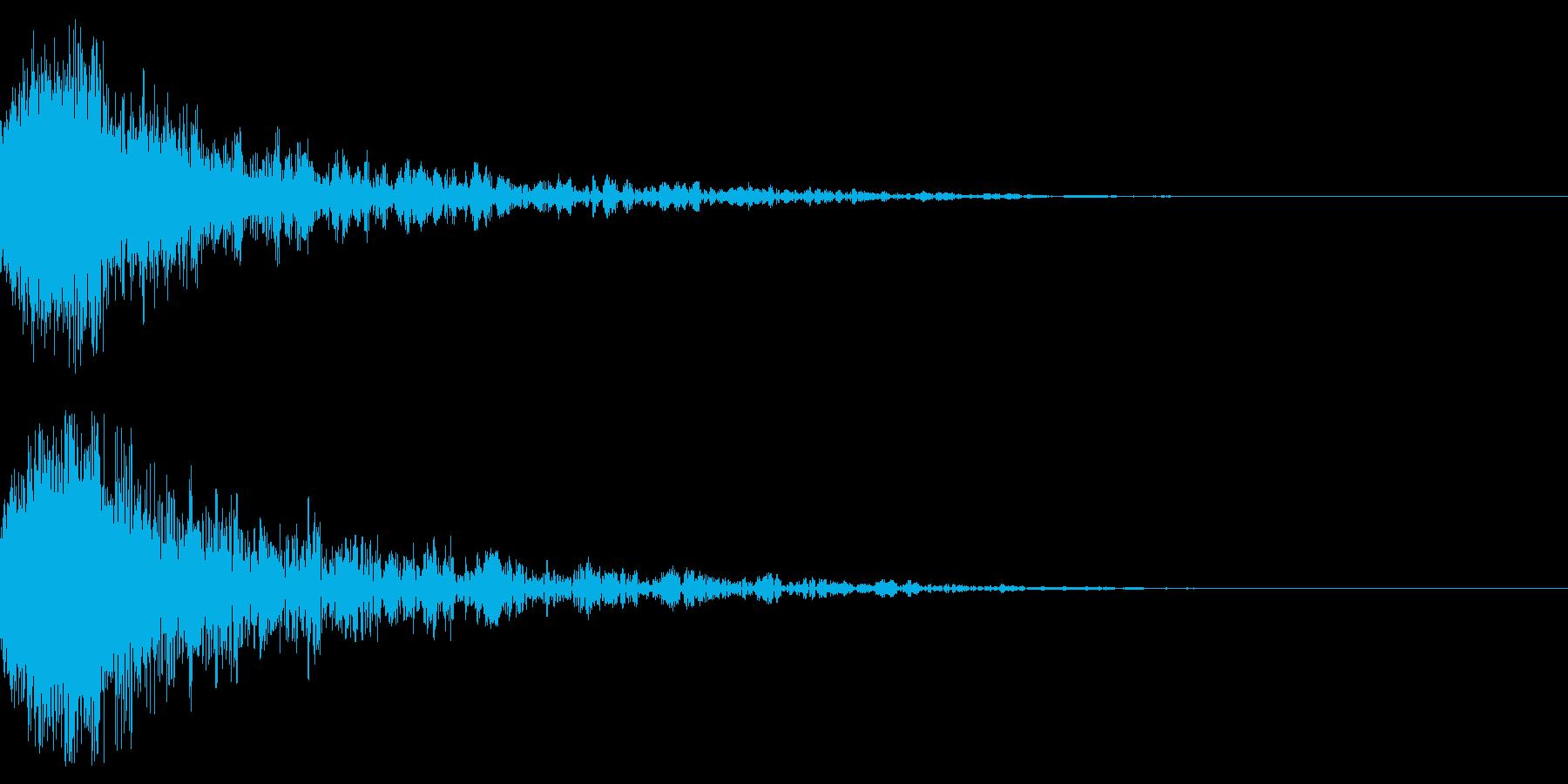 ドーン-54-1(インパクト音)の再生済みの波形