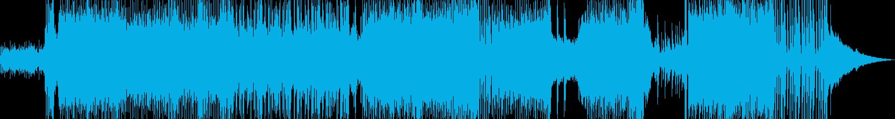 ハッピーな演出を彩るテクノポップの再生済みの波形