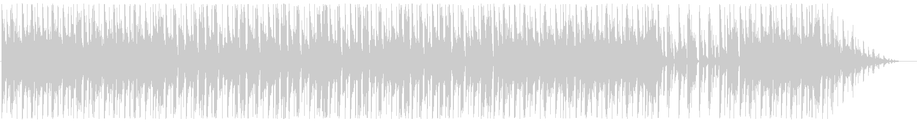 BGM with a calm mood's unreproduced waveform