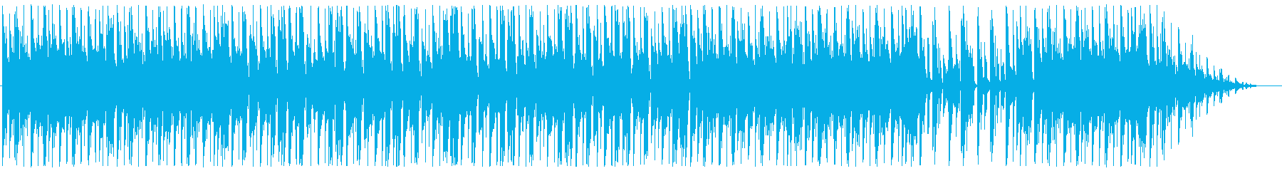 BGM with a calm mood's reproduced waveform