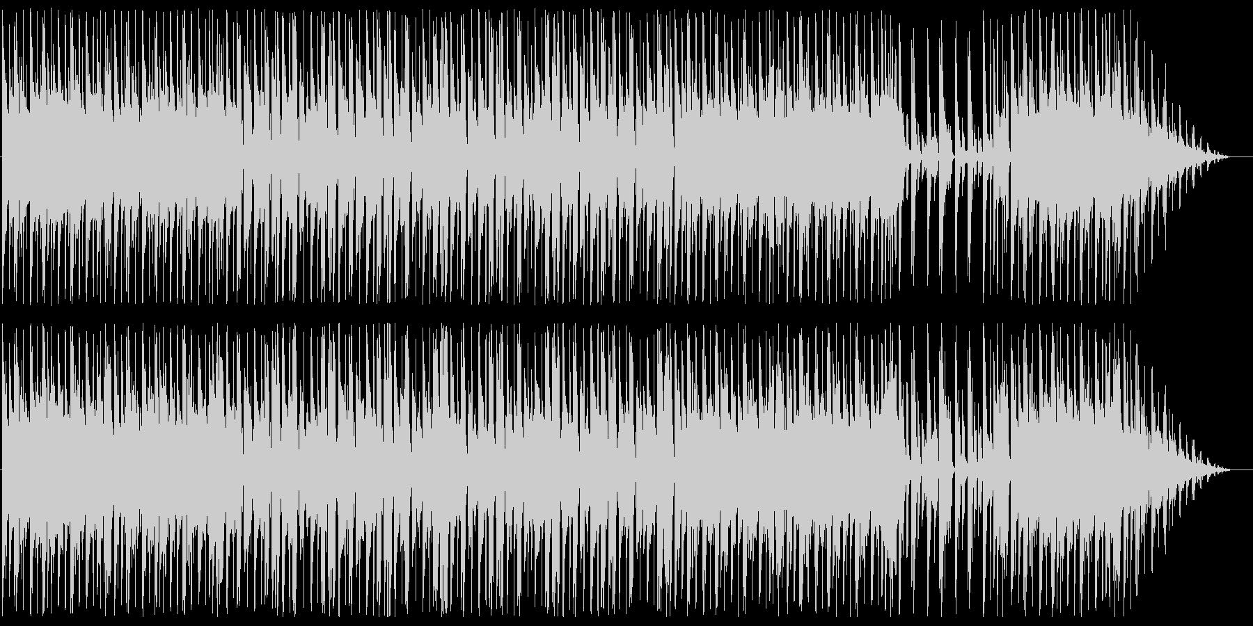 落ち着いたムードのあるBGMの未再生の波形