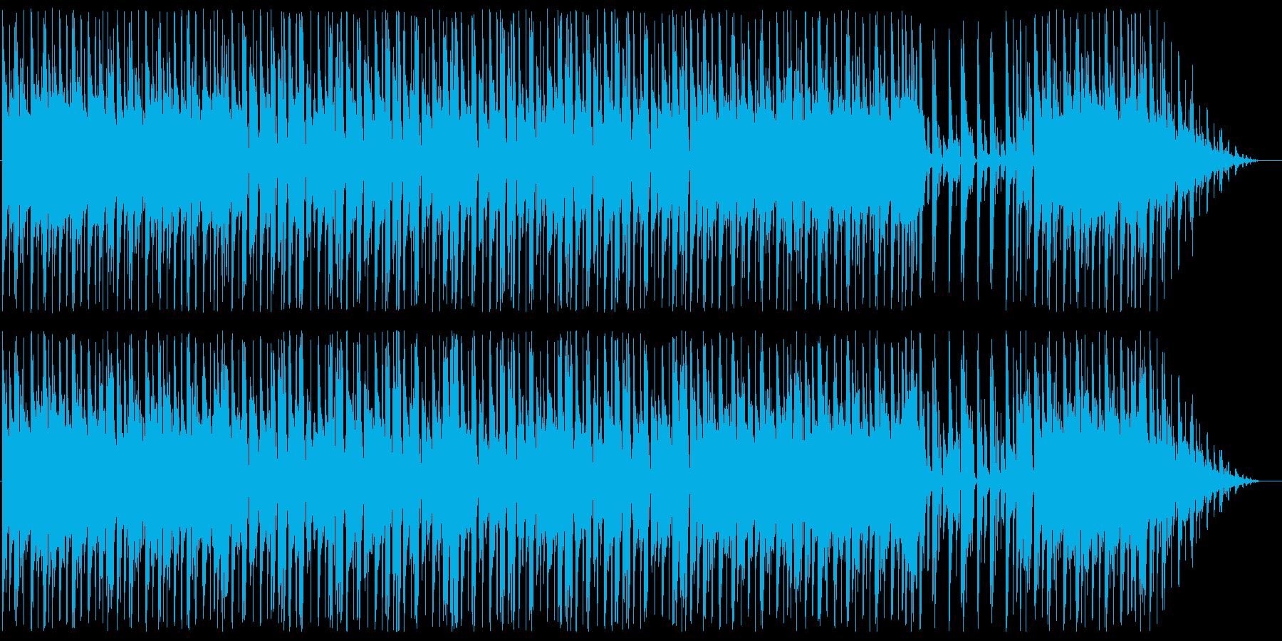 落ち着いたムードのあるBGMの再生済みの波形