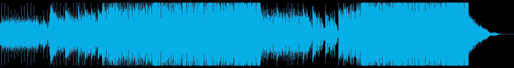 ほのぼのした雰囲気のポップロックの再生済みの波形