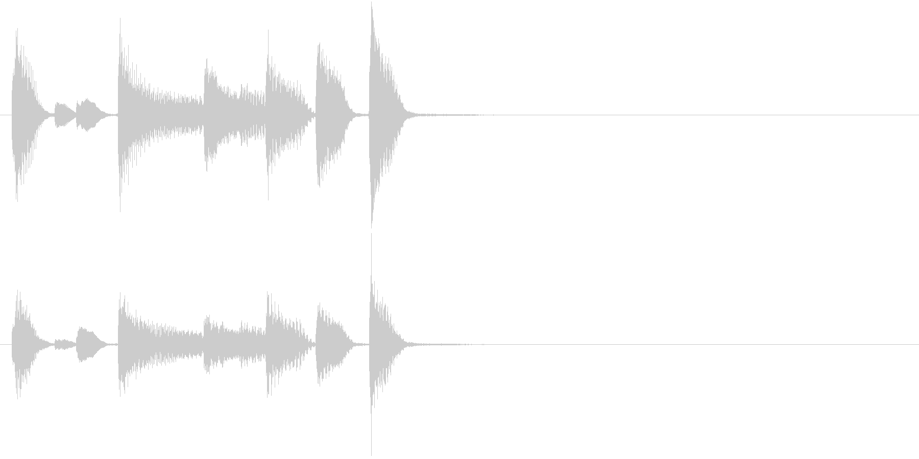 るんるん気分なピアノソロのサウンドロゴの未再生の波形