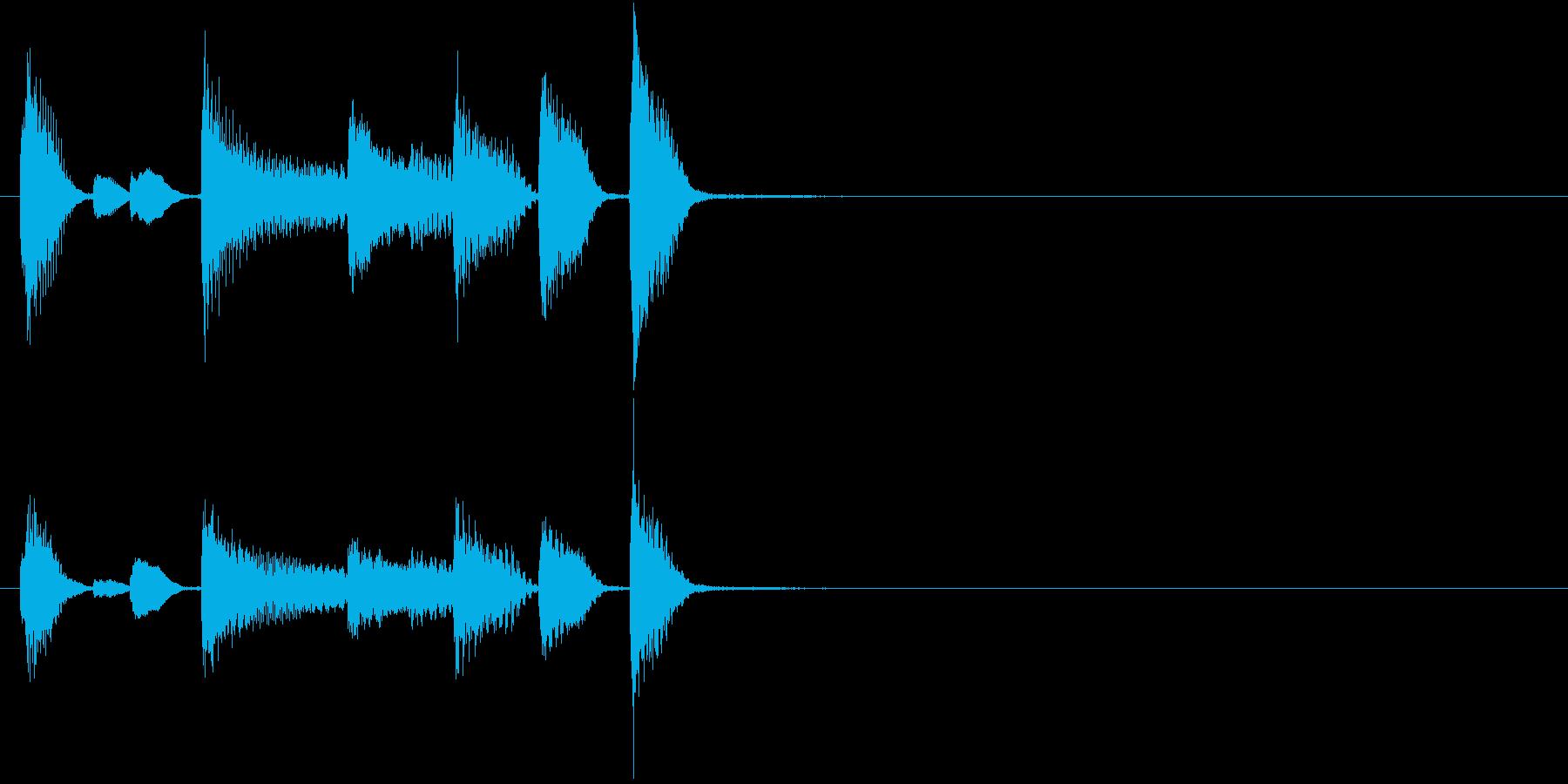 るんるん気分なピアノソロのサウンドロゴの再生済みの波形