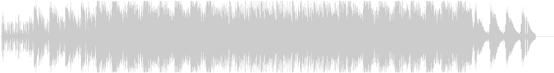 切ないピアノのリフレインとコーラスの未再生の波形