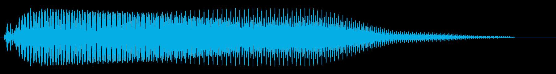 バイクのアクセルを踏んだときの音の再生済みの波形