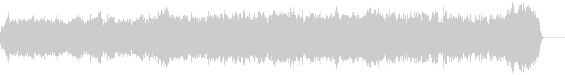 バッハのパイプオルガンのようなオルガン曲の未再生の波形