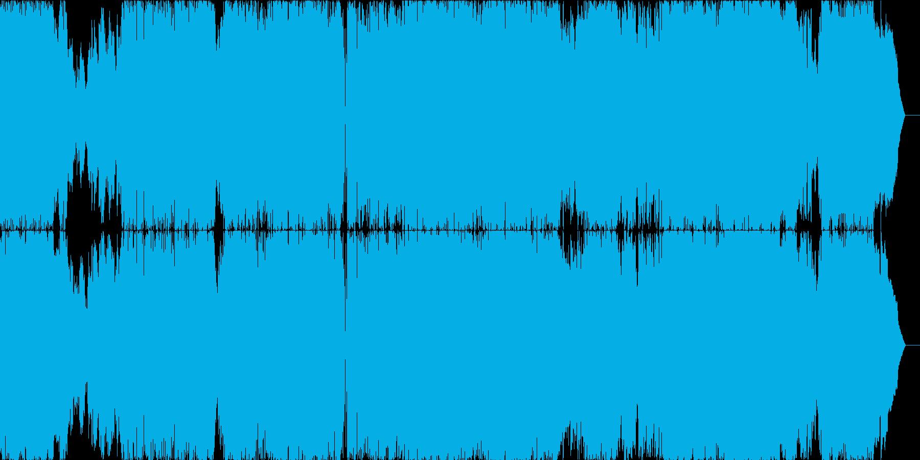 物語性のあるアニメ主題歌のようなロックの再生済みの波形