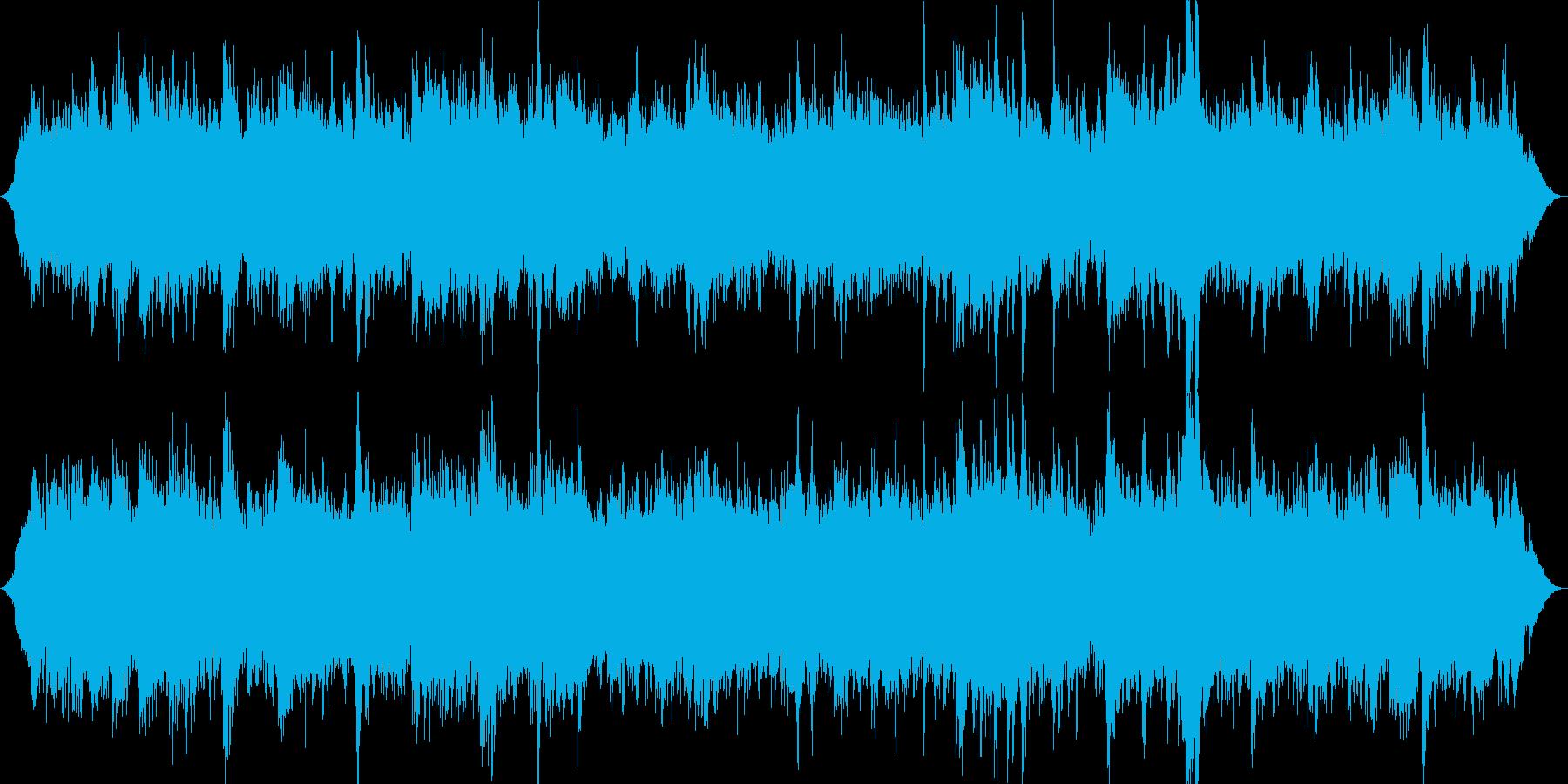 自然やピアノの音が絡み合うアンビエントの再生済みの波形