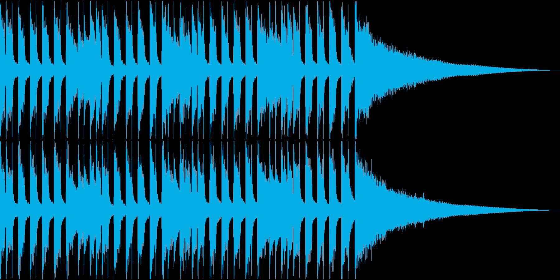 温かい雰囲気のアコギ主体のジングルの再生済みの波形