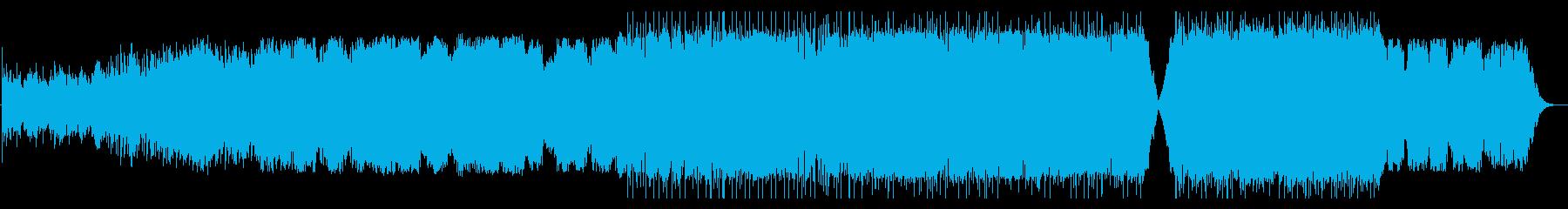 ピアノとシンセのアンビエントな作品の再生済みの波形