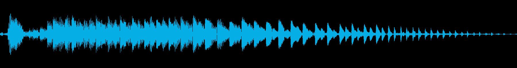 ポヨン!コミカルで可愛いジャンプ音!04の再生済みの波形