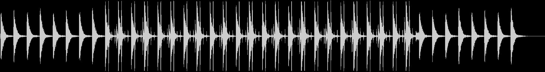 シンプルで切ない雰囲気のピアノとドラムの未再生の波形