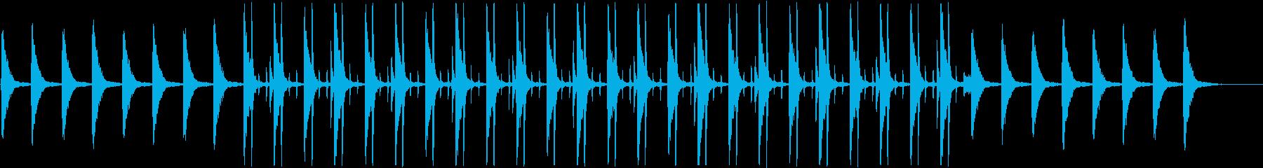 シンプルで切ない雰囲気のピアノとドラムの再生済みの波形