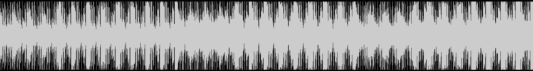 緊張感のある状態をイメージしたBGMの未再生の波形
