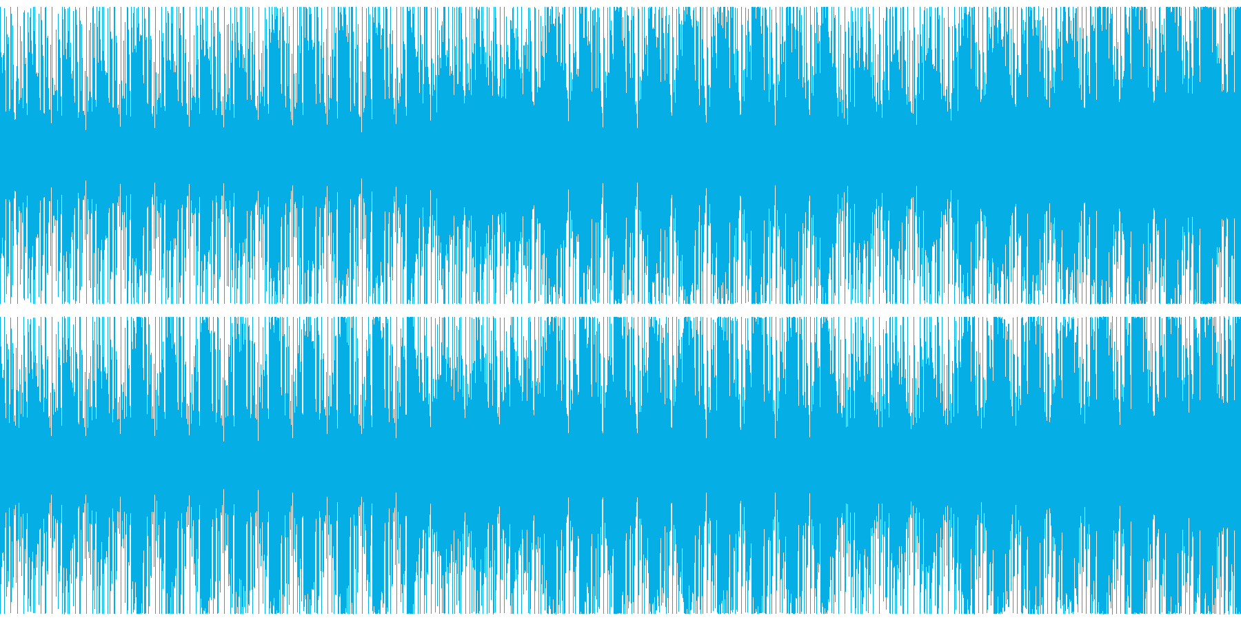 緊張感のある状態をイメージしたBGMの再生済みの波形