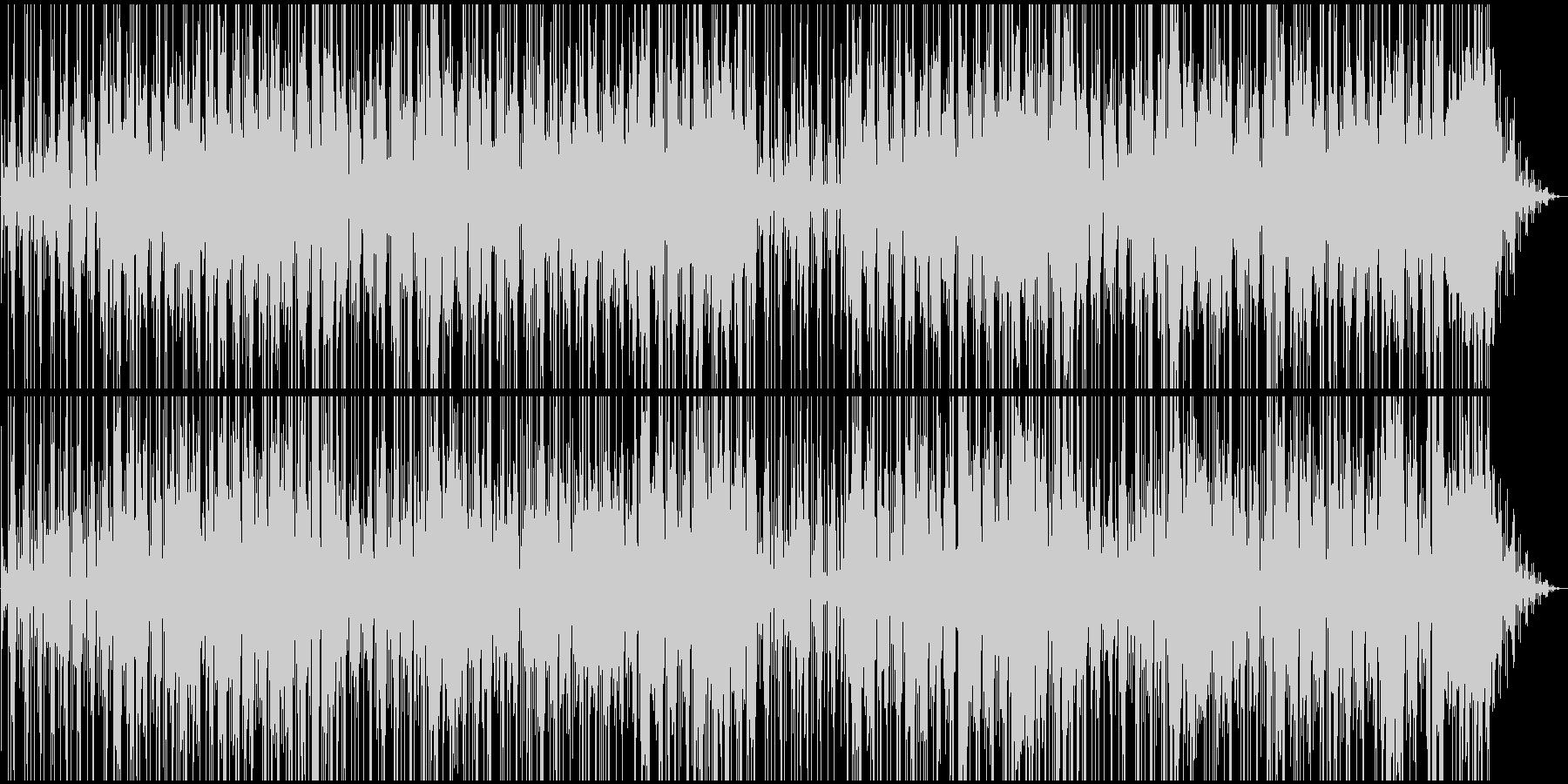 淡々と進む緊迫感のあるBGMの未再生の波形
