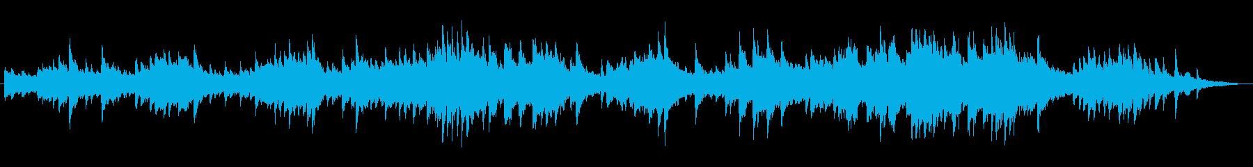 黒魔術のようなミステリアスなピアノ曲の再生済みの波形