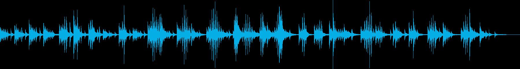 和風の切ないピアノBGM(幻想的・儚い)の再生済みの波形