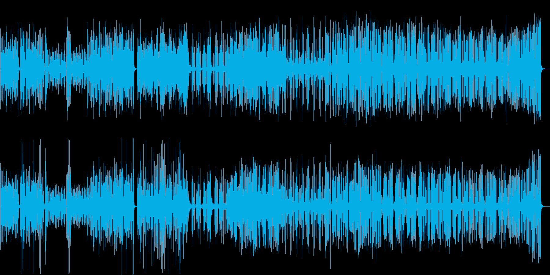 軽快で明るいファンクの再生済みの波形