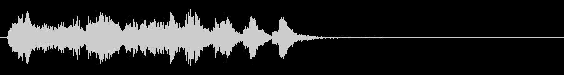 のほほんジングル014_クリア+3の未再生の波形