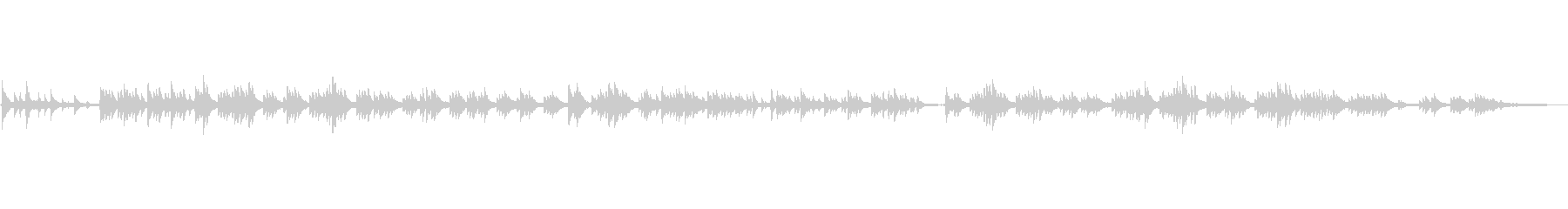 VLOG/BGM明るくあたたかな生ピアノの未再生の波形