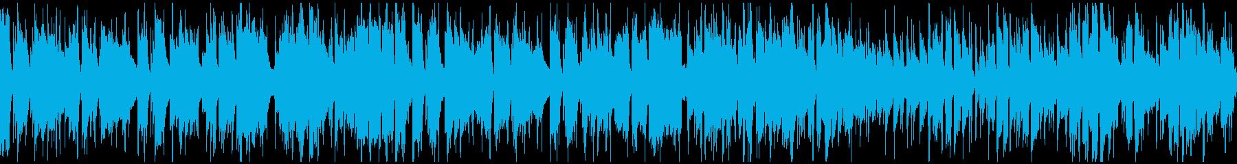 軽快で明るい爽快ジャズファンク※ループ版の再生済みの波形