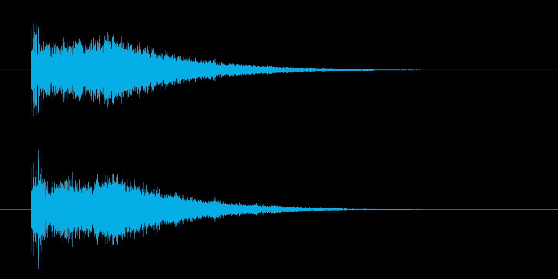 レベルアップ/能力値UP/成長/キラキラの再生済みの波形