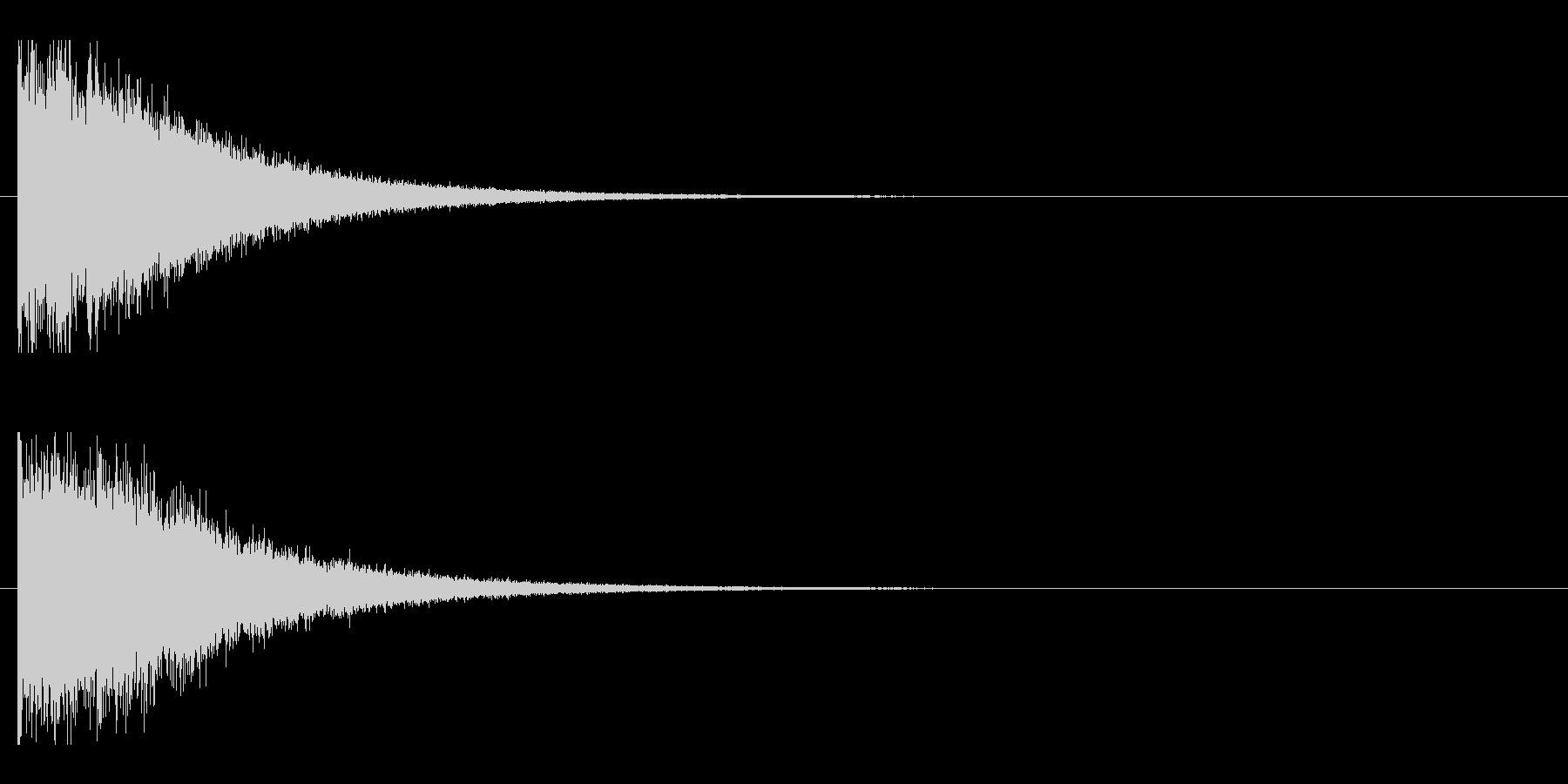 レーザー音-147-2の未再生の波形