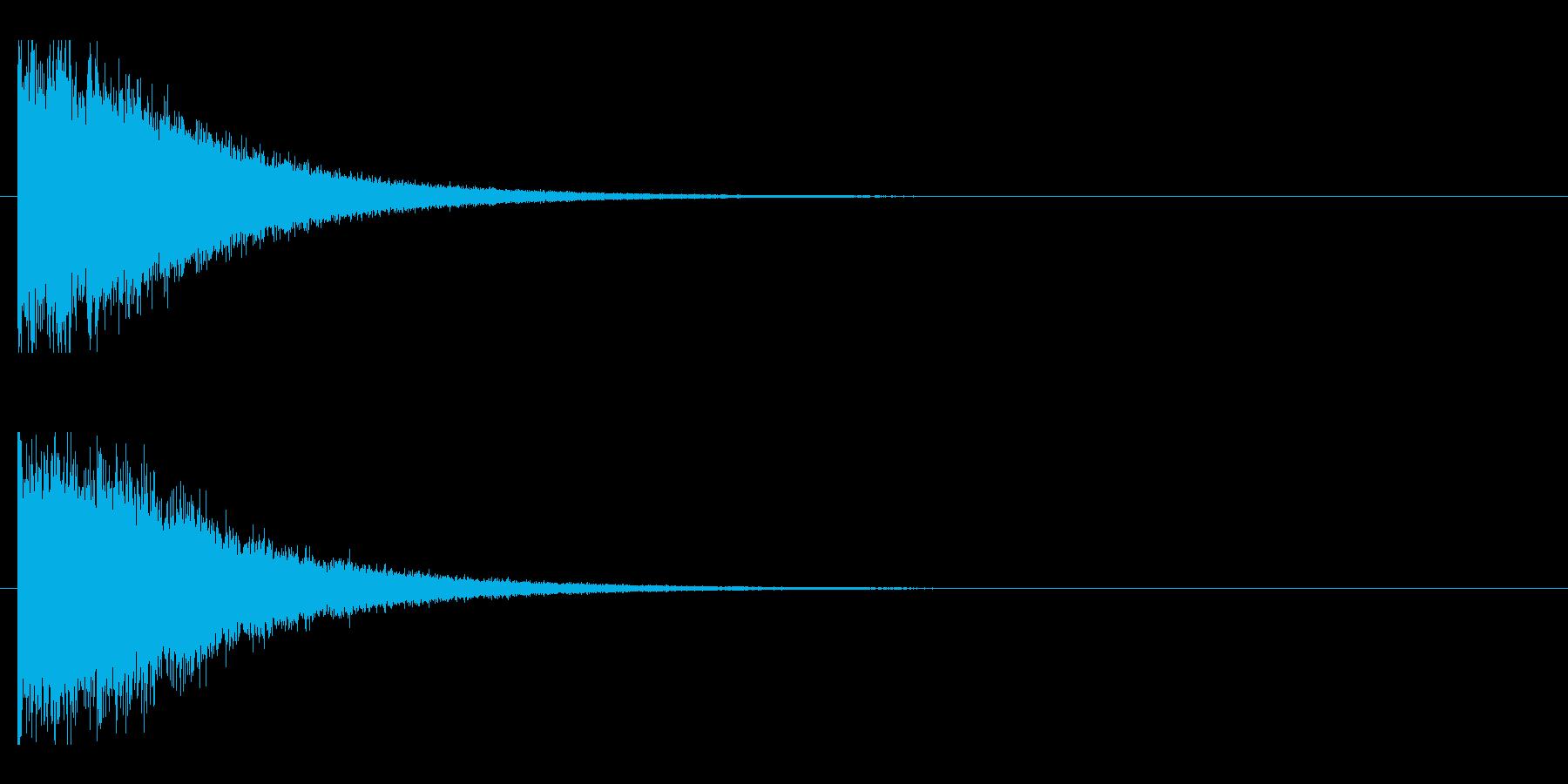 レーザー音-147-2の再生済みの波形