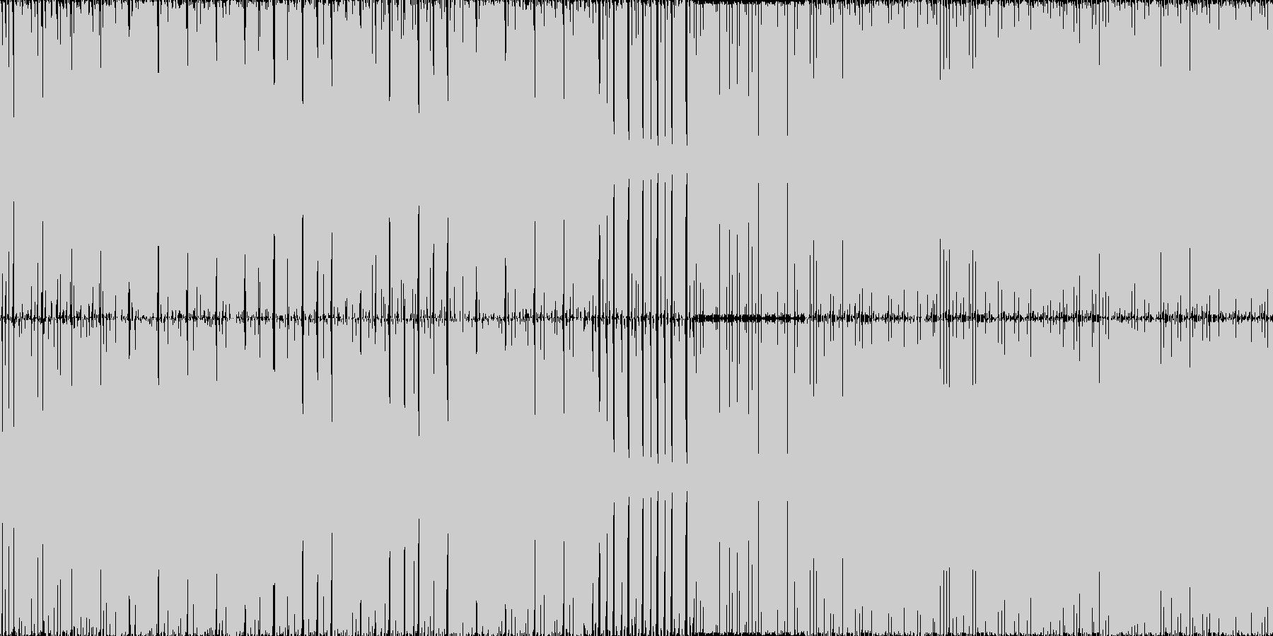 重めのテクノですの未再生の波形
