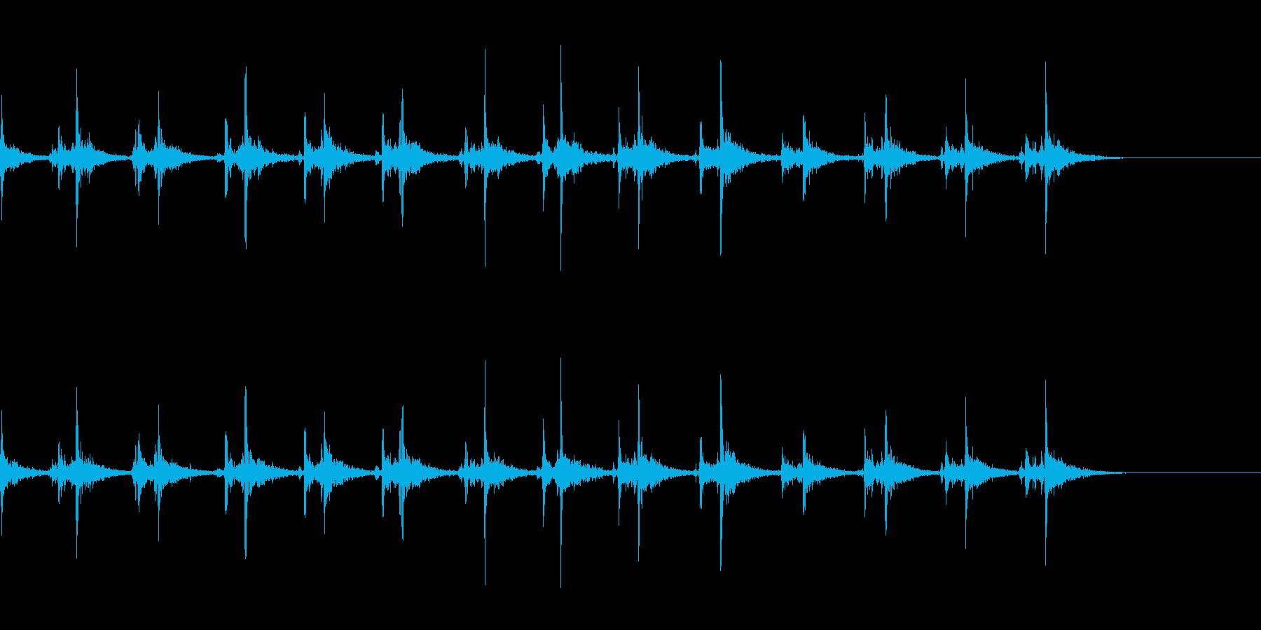 リバーブをかけた神楽鈴(小)を振る音の再生済みの波形