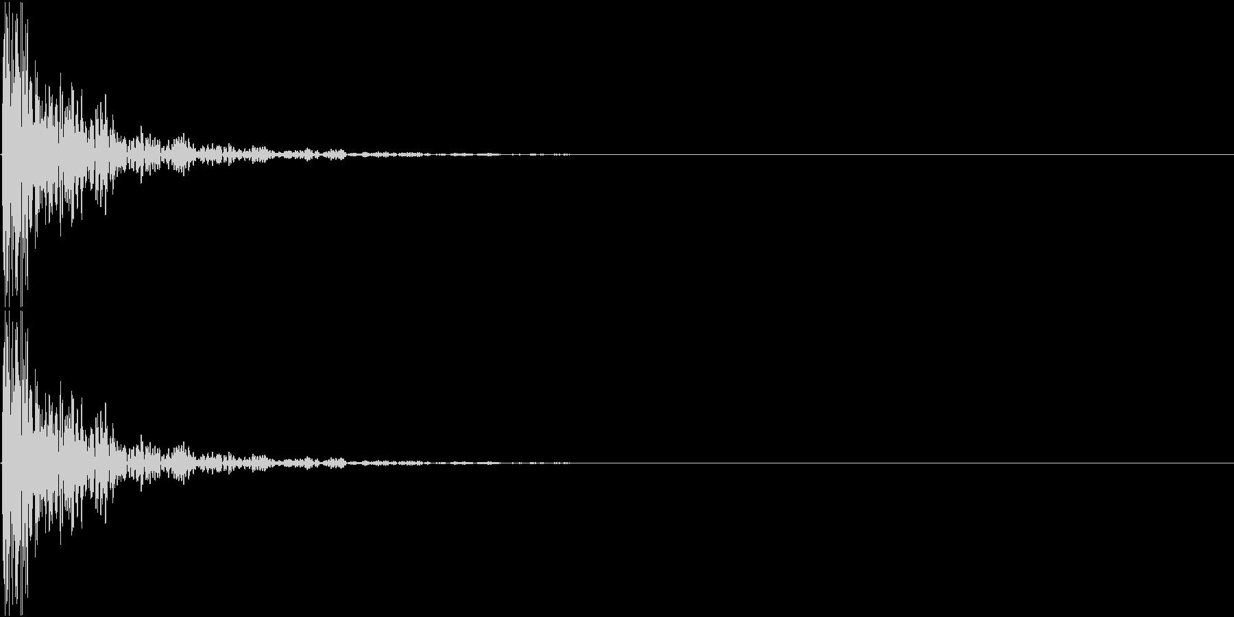 [[ドン!]] 和太鼓の音 単発の未再生の波形