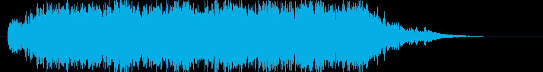 琴とシンセで疾走感のある和風オーケストラの再生済みの波形