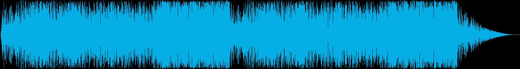 スマホゲームやイベント用のポップなBGMの再生済みの波形