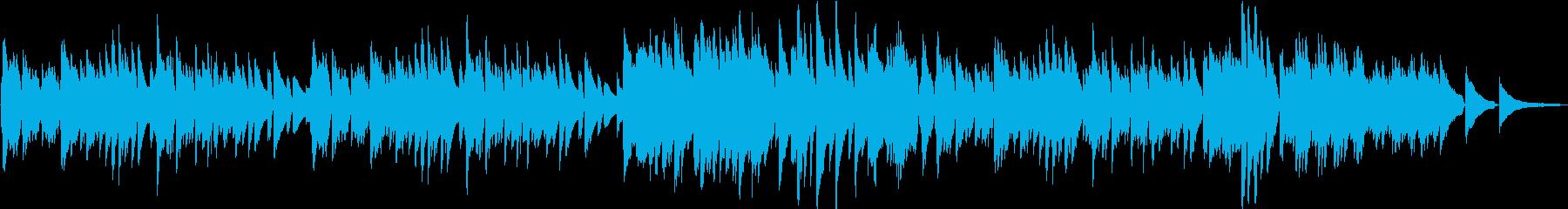 軽快で爽やかなキラキラしたピアノのワルツの再生済みの波形