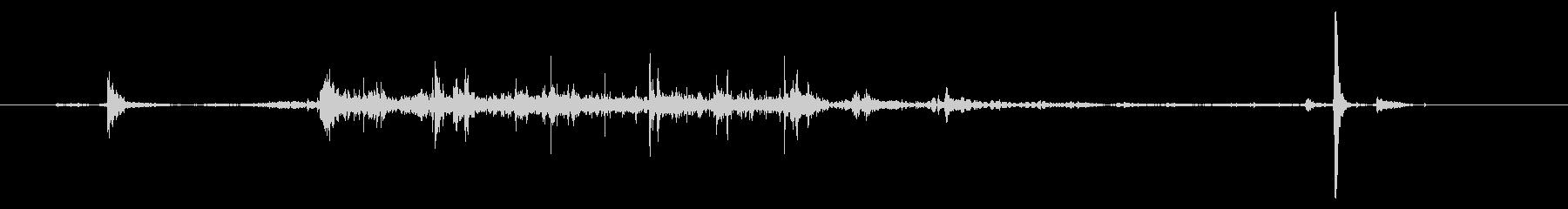 【録音】手を洗う音の未再生の波形