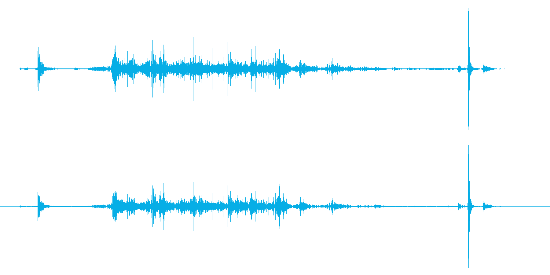 【録音】手を洗う音の再生済みの波形