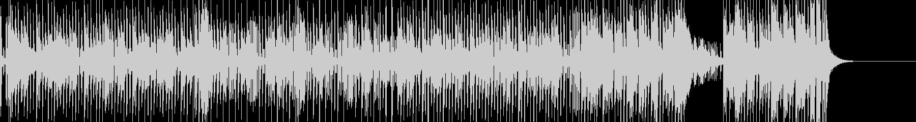 タンゴ風の明るい昭和楽曲の未再生の波形