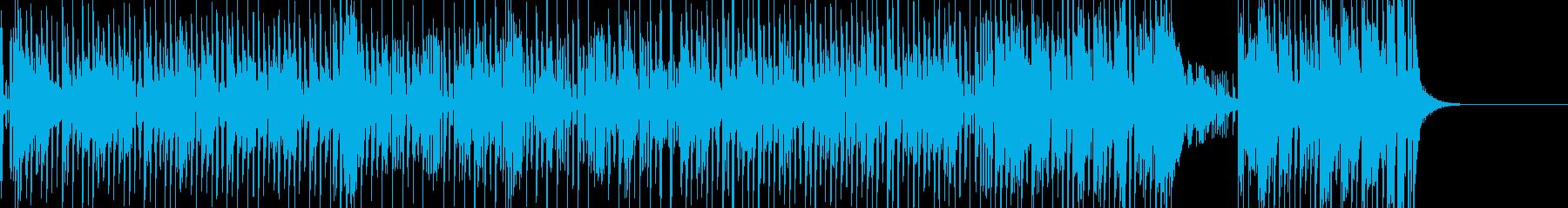 タンゴ風の明るい昭和楽曲の再生済みの波形