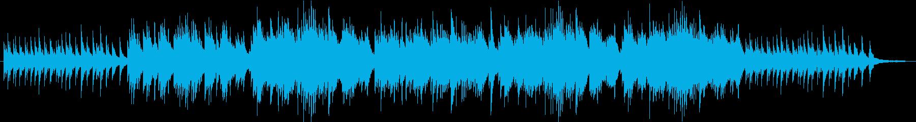 哀しみの回想シーン風ピアノ曲の再生済みの波形