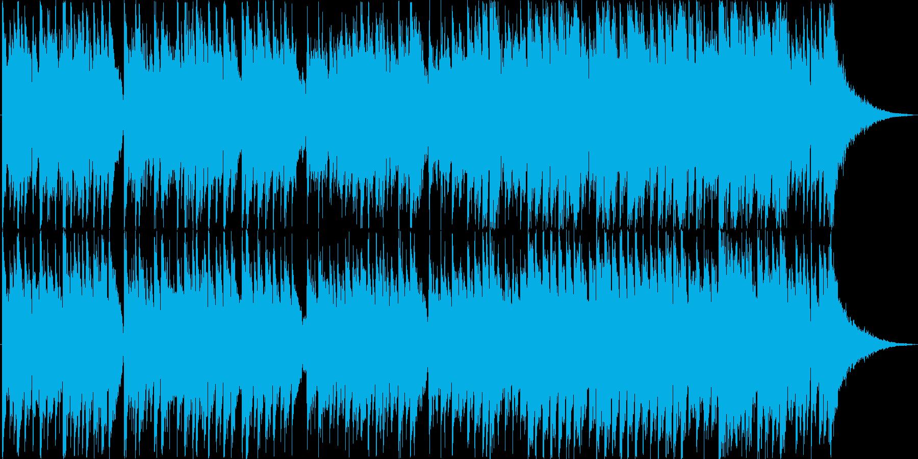 シンプルなアコギソロの再生済みの波形